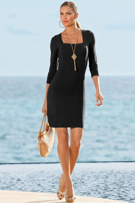 Beyond travel™ square neck dress image
