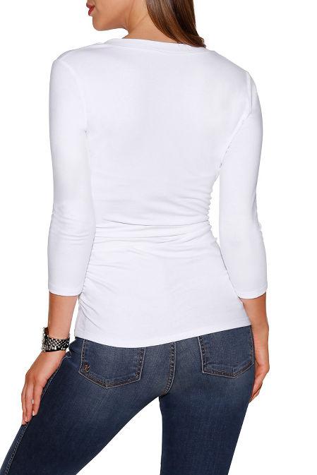 So sexy™ three-quarter sleeve v-neck top image