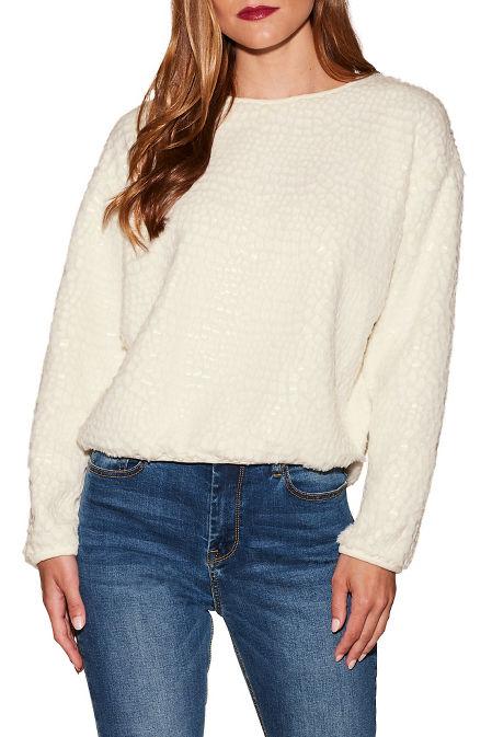 Textured shimmer sweatshirt image