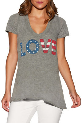 usa love v-neck tee