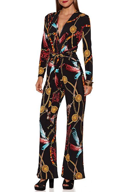 Chain print jumpsuit image