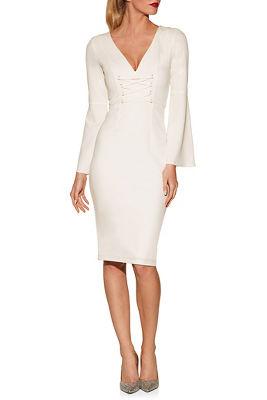 Corset Flare Sleeve Dress by Boston Proper