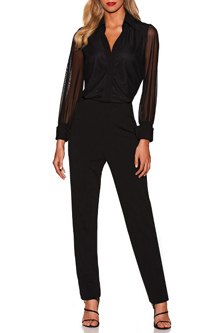 Collar illusion jumpsuit image