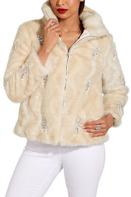 Faux fur embellished chubby