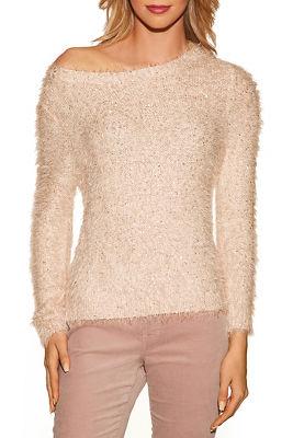 Fuzzy sequin sweater