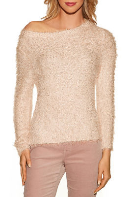 Fuzzy sequin sweater