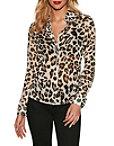 Leopard Print Button-down Blouse Photo
