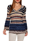 Multicolor Crochet V-neck Sweater Photo