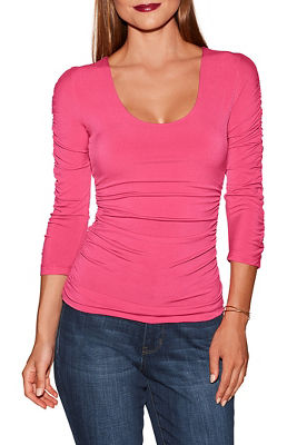 Beyond Slim and Shape ruched top