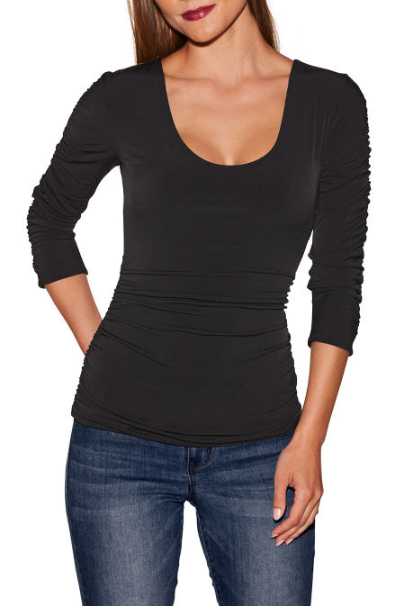 Beyond Slim and Shape ruched top image
