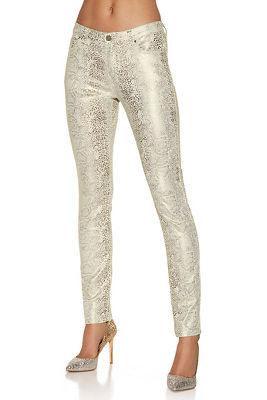 Snake foil print skinny jean