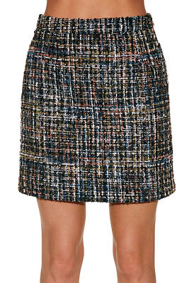 sparkle tweed mini skirt