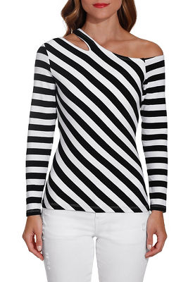 So Sexy™ one shoulder stripe top