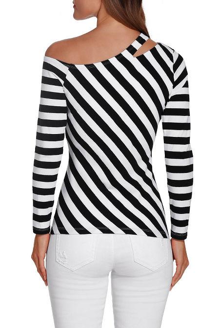 So Sexy™ one shoulder stripe top image