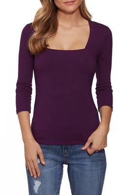 So sexy™ three-quarter sleeve square-neck top