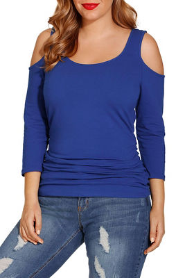 So sexy™ ruched cold-shoulder top