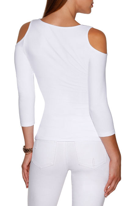 So sexy™ ruched cold-shoulder top image