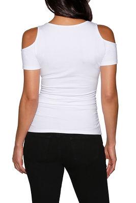 So sexy™ cap sleeve cold-shoulder top