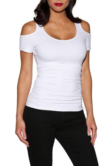 So sexy™ cap sleeve cold-shoulder top image
