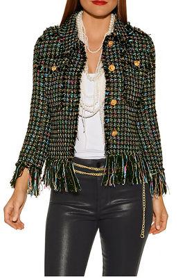 Display product reviews for Frayed hem tweed jacket