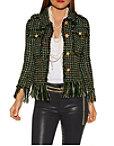Frayed Hem Tweed Jacket Photo