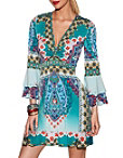 Printed Twist Front Dress Photo