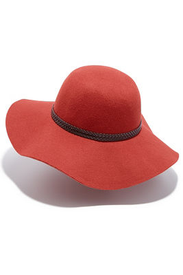 braided trim felt hat