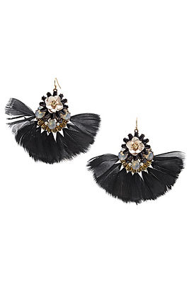 fan feather earrings