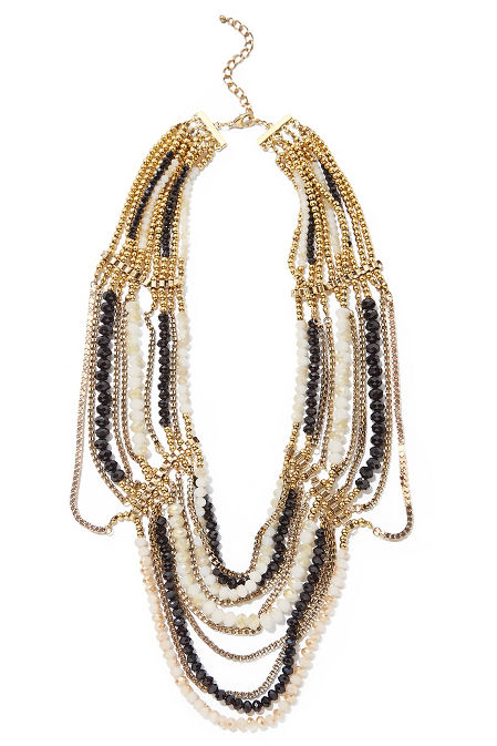 Multilayer beaded necklace image