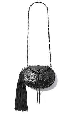 structured tassel crossbody bag.