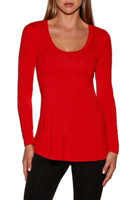 Long sleeve trapeze tee