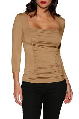 Ruched inset top