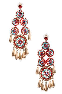Multibeaded drop earrings