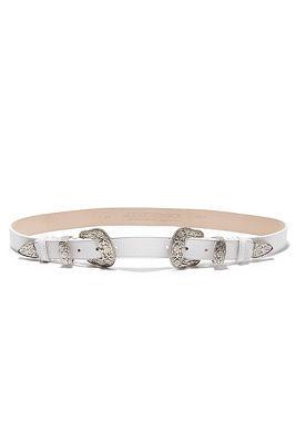White double buckle belt