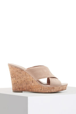 crossover slip-on wedge