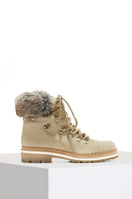 Cozy fur lace up boot