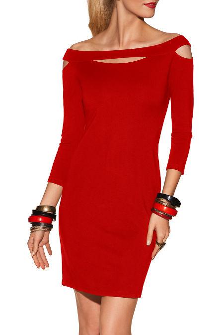 Cutout off-the-shoulder dress image