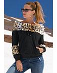 Leopard Faux Fur Sweatshirt Photo