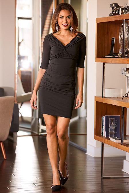 Ruched off the shoulder dress image