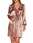 Satin Ruffle Dress Photo