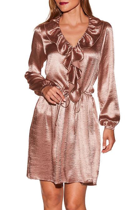 Satin ruffle dress image