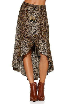 Animal hi lo skirt