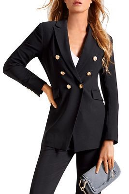 Beyond travel sleek double breasted jacket