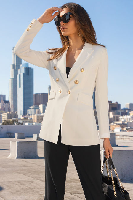Beyond travel sleek double breasted jacket image