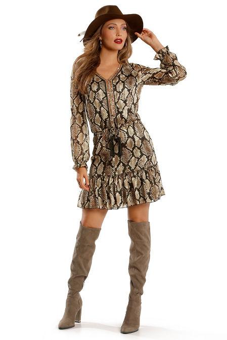 Embellished printed dress image