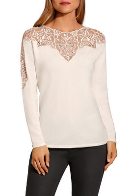 lace illusion sweater