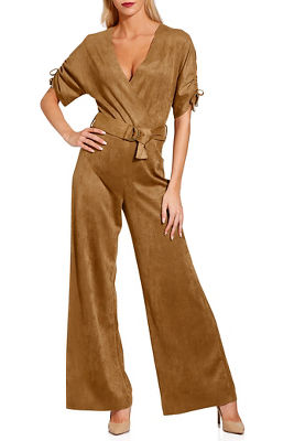 Display product reviews for Vegan suede jumpsuit