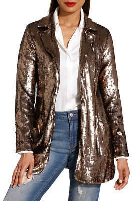 Display product reviews for Glam sequin blazer