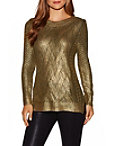 Gold Foiled Crew Neck Sweater Photo
