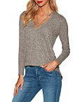 So Soft Surplice X Neck Long Sleeve Top Photo
